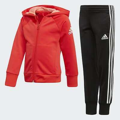 New Adidas  LG KN Girls Hooded tracksuit  5-6 years