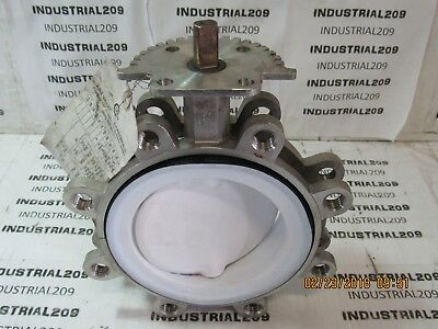 Abz Stainless Butterfly Valve 6'' With Teflon Disc New Surplus