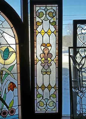 Victorian Era Vertical Stained Glass Window