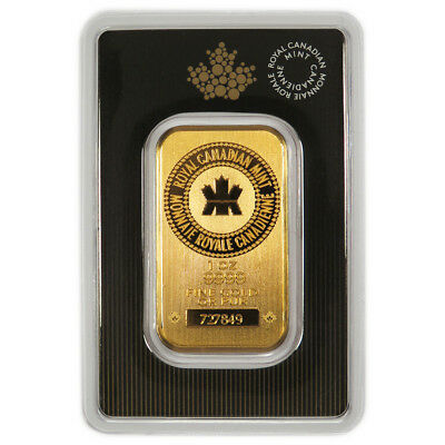 1 Troy Ounce .9999 Gold - Royal Canadian Mint 2017