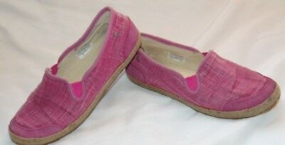5560637a852 YOUTH BIG GIRLS Pink Canvas UGG AUSTRALIA Slip On Athletic Sneakers Shoes  Sz 5 Y