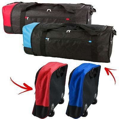 Extra Large Folding Wheeled Holdall Trolley Suitcase Luggage Travel Carry Bag