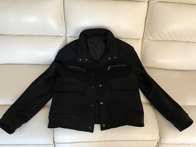 BRAND NEW VERSACE Collection Black Mens Bomber Jacket Size 48 Rrp ... b699c0d32a8