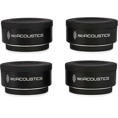 (4-Pack) IsoAcoustics Iso-Puck Isolation Puck for Studio Monitors and Amps