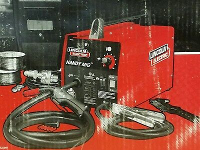 "Lincoln Electric K2185-1 Handy Mig Wire-Feed Welder 24GA 1/8"" New"
