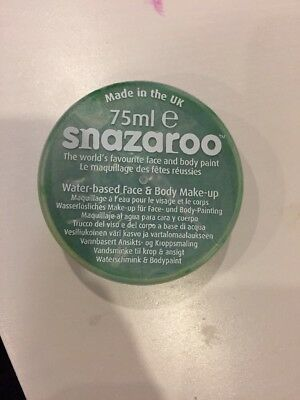 Snazaroo 75 ml Pot Body and Face Paint (Bright Green) Bright Green