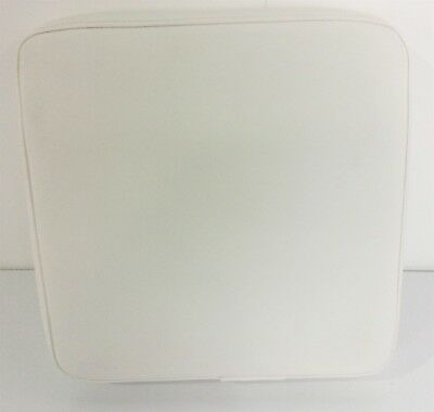 NEW Sportsman Boats Filler Cushion Square White W/ Two Button Snaps