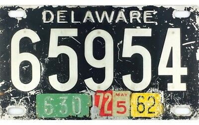 1948-1951 Delaware License Plate #65954 STAINLESS STEEL TYPE
