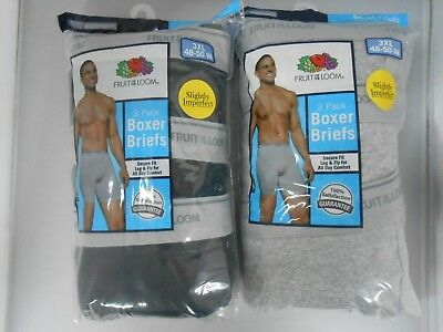 Fruit of the Loom Men's Boxer Briefs 6-PACK M-3XL ASSORTED COLORS/PRINTS