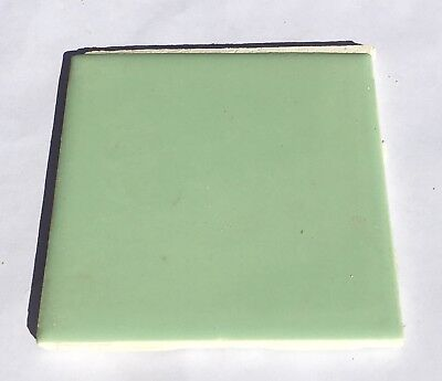 Jade Green 4x4 Vintage Ceramic Tile 'Made in USA' -1Sq Ft- Salvaged