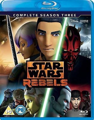 STAR WARS REBELS Complete Season 3 [Blu-ray Set] Disney XD TV Show Third Season
