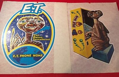 Lot of (2) New Vintage 1980's E.T Phone Home/ Gamer E.T- Iron On Heat Transfers