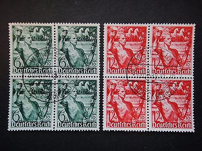 Germany Nazi 1938 Stamps Used Third Reich Youth Carrying Torch German Deutschlan