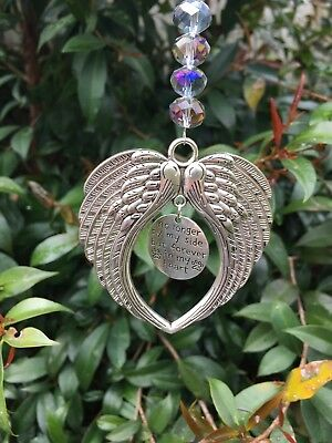 Angel Wings Pet Memorial Crystal Suncatcher