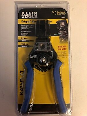 Klein Tools Katapult Wire Stripper/Cutter Tension Loaded Heavy Duty Cast Alloy