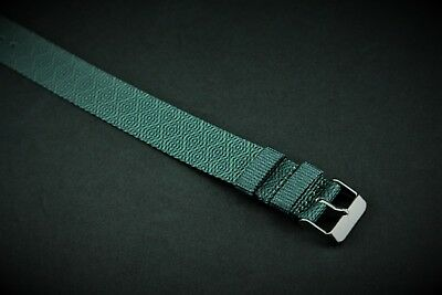 20mm Green Pattern print Slip Thru Nylon Watch strap band fits Timex Weekender