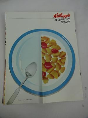 "Vintage 1978 Kellogg's Battle Creek Brochure ""A Quality Story""  Cereal Ad"