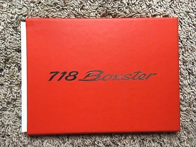 Porsche New Boxster 718 Brochure Book - Hardback - 36 glossy pages - NEW