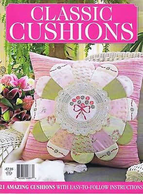 Embroidery & Patchwork Magazine, Classic Cushions Vol 1 Crewel Red Work Applique