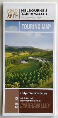 Melbourne's Yarra Valley Touring Map Brochure (Adv1)