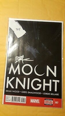 Moon Knight #7 Sept 2014 Marvel Comic Book Signed By Brian Wood W/ Coa Nm Unread