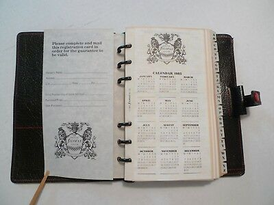 Filofax -Calf Leather Planner -Made In England -New Old Stock With  Many Inserts