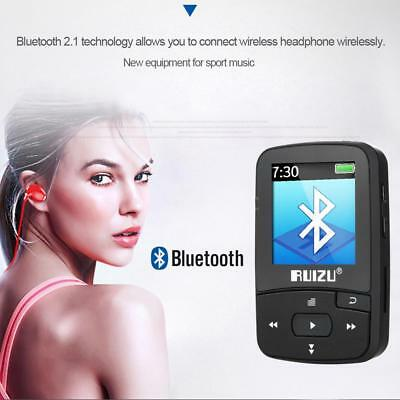 RUIZU X50 8Go 1.5in MP3 MP4 Lecteur HiFi Lossless Qualité Sonore Bluetooth TF FM