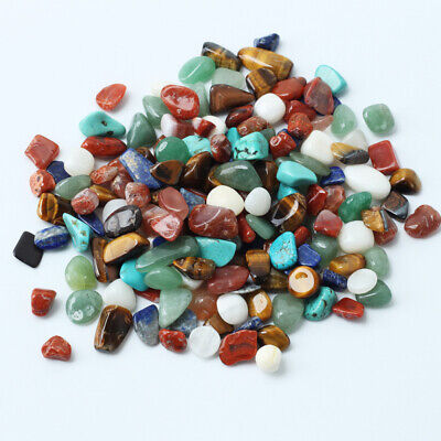 1 Bag 100g Assorted Tumbled Stones Crystal Mixed Color Rock Gemstone Decoration