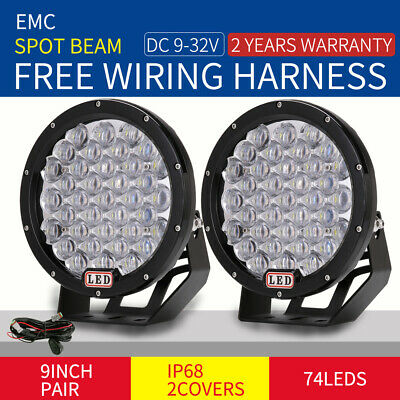 99999W 9inch Cree LED Driving Lights 7D Spotlights Work Offroad UTE SUV ATV HID