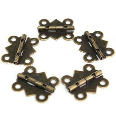 Small Butterfly Door Hinges Cabinet Drawer Jewelry Box Hinge Furniture Hardware