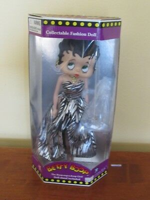 Betty Boop Collectible Fashion Doll 1998-Black & Silver Dress-So Pretty!!! B1796