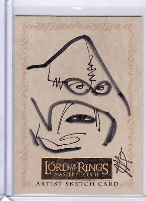 Lord of the Rings Masterpieces 2 Sketch Card by Jessica Hickman KEC