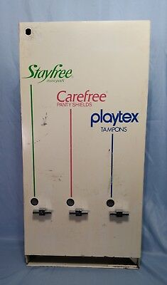 Vintage 25¢ Feminine Hygiene Stayfree Carefree Playtex Dispenser