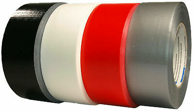 Woven Tape 48mm x 50m Duct Tape Repair Tape Black Red White Silver