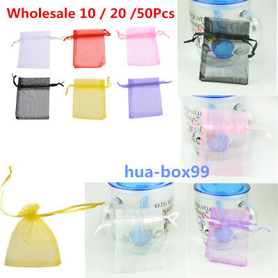 Wholesale 6 Color Bulk Lots Organza Voile Jewelry Gift Favor Candy Bag Pouch