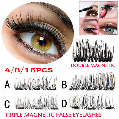 3D Double Magnetic Eyelashes Handmade Reusable False Magnet Extension Eye Lashes