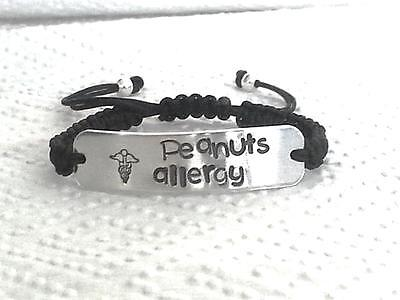 1 x Personalized Medical Allergy Alert Adjustable Bracelet