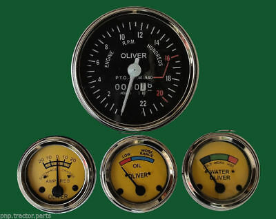 Gauges Kit Case Tractor Temperature,Oil Pressure Ampere Tachometer