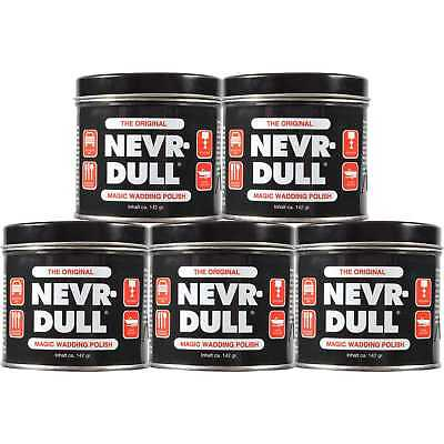 5 x NEVR-DULL Metall-Polierwatte C2116A (142 g)