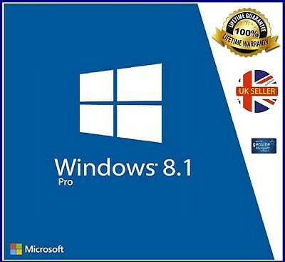 Windows 8.1 Professional 64-bit Full UK Version DVD key  Product Key