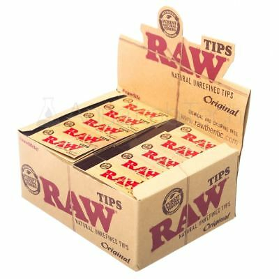 Raw Rolling Paper Tips Original  Natural Unrefined 50 Pack (Full Box)