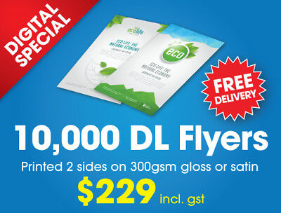 DL Flyers - Qty 10,000 - 150gsm gloss - Flyers Printing - Leaflet Printing