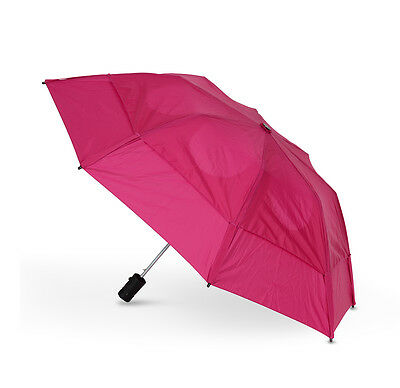 GustBuster Metro Auto Vented Folding Umbrella - Hot Pink