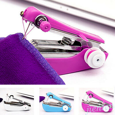 Portable Mini Sewing Machine Handheld Stitch Clothes Cordless Household DIY Tool