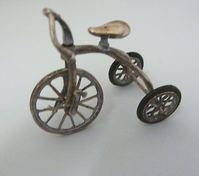 Solid SILVER Miniature Tricycle