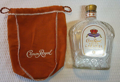 Crown Royal Salted Caramel EMPTY Bottle and Bag NO BOX 2017
