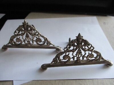 Two Victorian Silver Plated Table Place Card Holders William Hutton And Sons