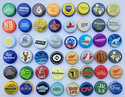 100 [MIXED] Beer Bottle Caps ((NO DENTS)) Awesome Assortment Micro Macro Brewery
