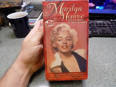 Marilyn Monroe Memories and Mysteries-sealed VHS 3 tape set-1996 Brentwood