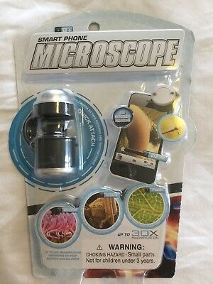 Smart Phone  Microscope for iPhone, Android phone Lens Magnifier Up To 30X NEW!